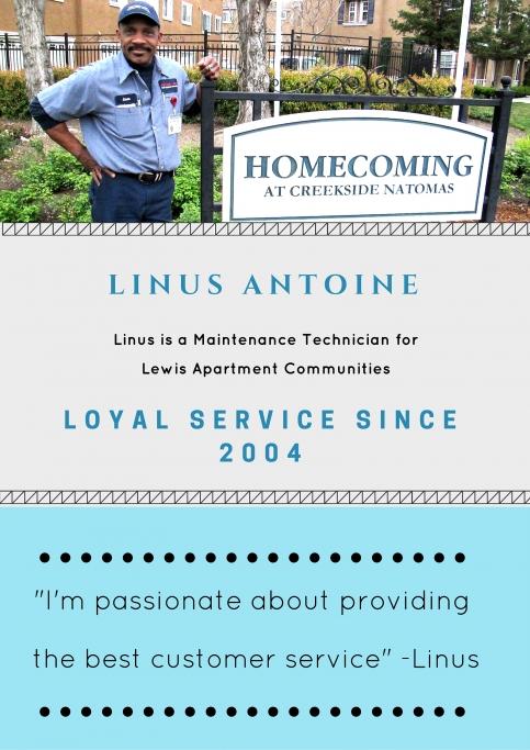 Lewis Apartment Communities Employee Spotlight Linus Antoine