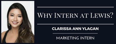 why take a lewis marketing internship? marketing intern